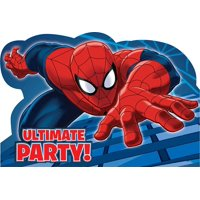 Marvel Spiderman Superhero Birthday Party Invitations 16 Count with Save the Date Stickers