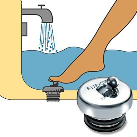 P-100 Flip-It Replacement Tub Stopper, Chrome - 2071011This is manufactured in china By PPP