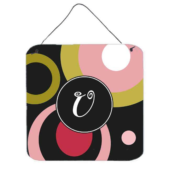 Carolines Treasures AM1001-UDS66 Monogram - Retro In Black Aluminium Metal Wall Or Door Hanging Prints - image 1 de 1