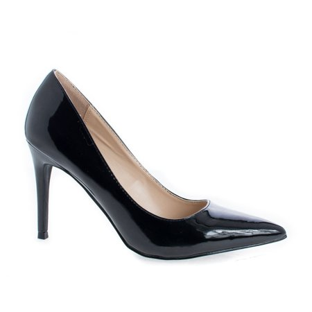 Miley by Shoe Republic, Pointed Toe Extra Cushioned Insole Classic Stiletto Heel Pumps