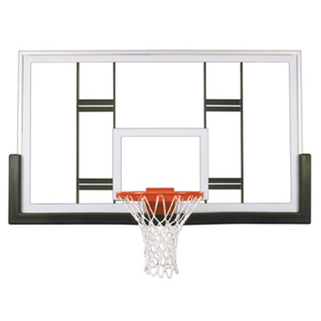 FT239 Tempered Glass 42 X 72 in. Official Conversion Glass Backboard, Royal Blue