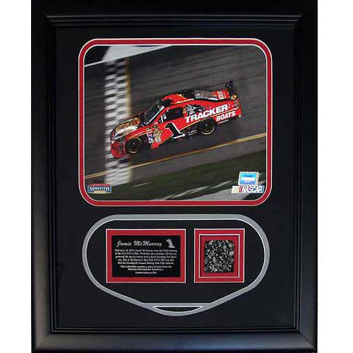 """Jamie McMurray Framed 8"""" x 10"""" Photo Collage with Authentic Piece of Race Used Track (MM Authorized)"""