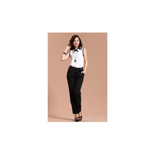 Women's American Style Casual Pants Jumpsuit White