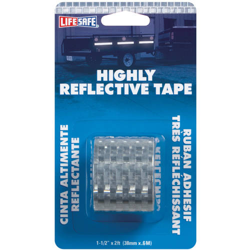 "Incom RE803 1-1/2"" x 2' Silver Highly Reflective Tape"