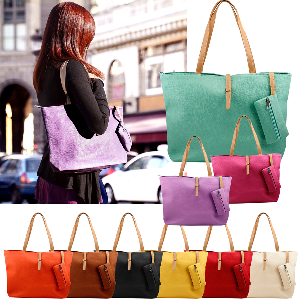 Fashion Lady Ladies Women PU Leather Messenger Hobo Shoulder Handbag Shoulder Bag Tote Purse