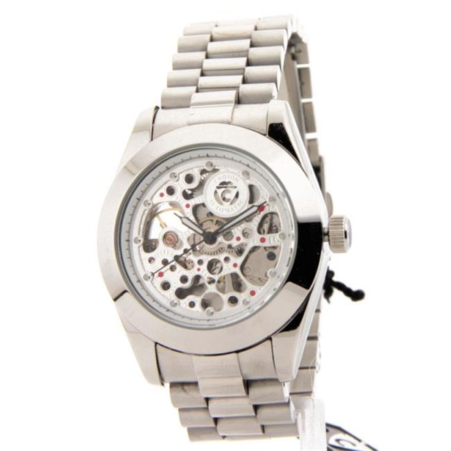 Croton C1331059SSSK Mens Imperial Stainless Steel 21 Jewels Skeleton Automatic Watch