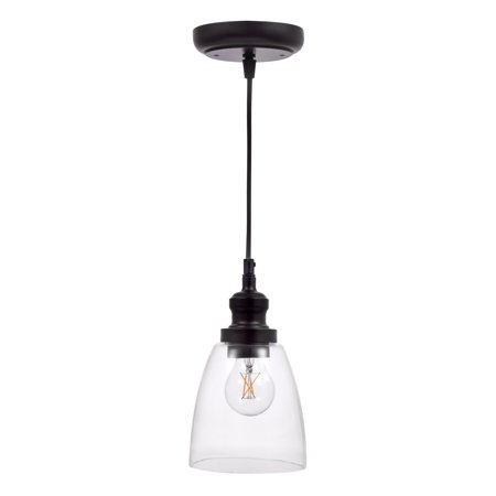 SYLVANIA Brookline Glass Pendant Light, LED, Dimmable (Plum Glass Pendant)
