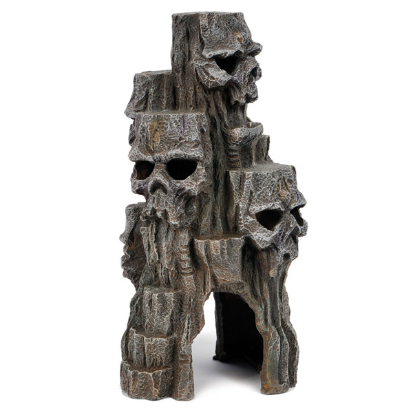 Top Dawg 33438 Resin Ornament- Skull Mountain Tall Grey