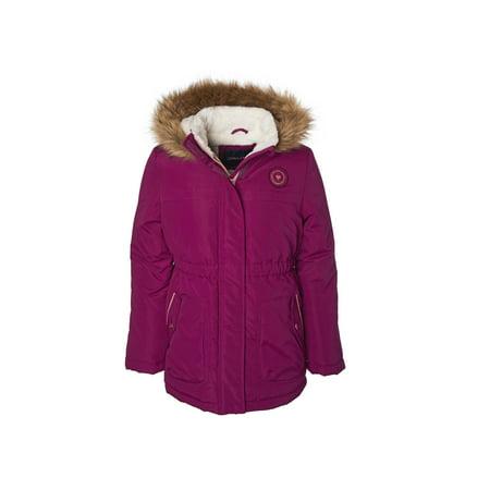 Fur Trim Heavyweight Anorak Jacket with Sherpa Fleece Lining (Big Girls) ()