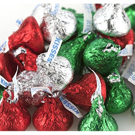 hershey chocolate kisses red green silver christmas colors - Why Are Red And Green Christmas Colors