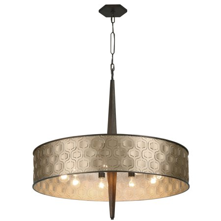 Varaluz - Iconic - 9 Light Drum Pendant - Champagne Mist