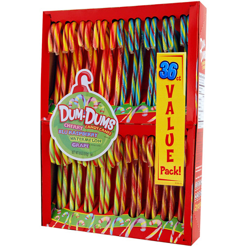 Dum Dums Assorted Flavored Candy Canes, 36 count, 1.1 lb