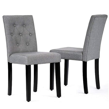 Kitchen Room Dining Chairs Armless Chair Accent Solid Wood Modern Style For Living Home Furniture (set of 2)