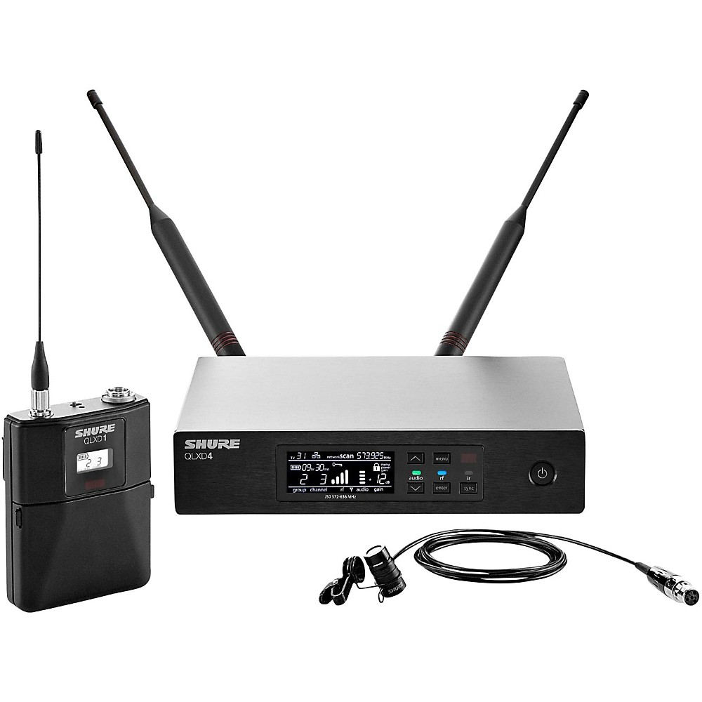 Shure QLX-D Digital Wireless System with WL185 Cardioid Lavalier Band G50 by Shure