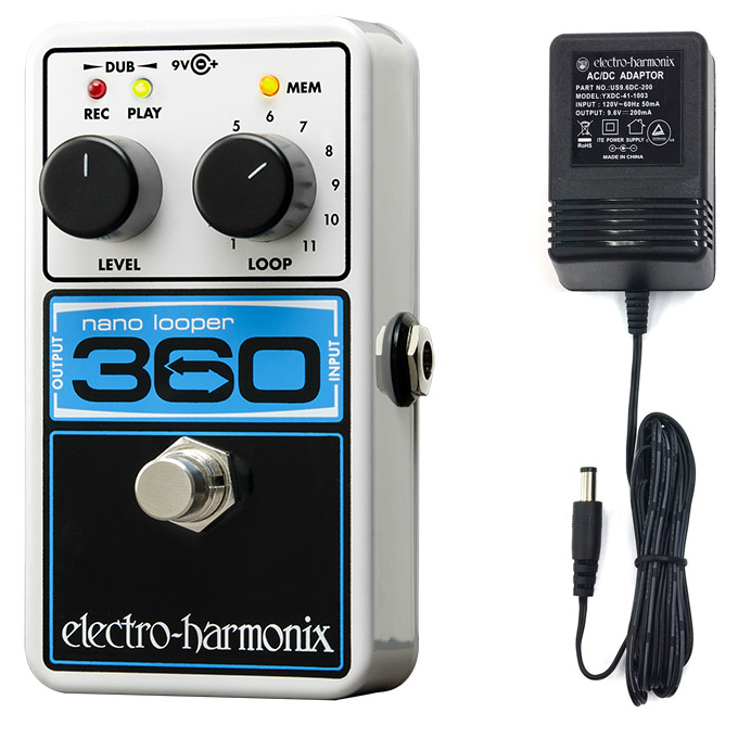 Electro-Harmonix 360 Nano Looper Guitar Looper Effects Pedal with power supply by New Sensor