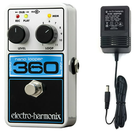 Electro-Harmonix 360 Nano Looper Guitar Looper Effects Pedal with power (Best Guitar Effects Power Supply)