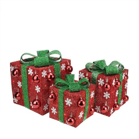 Northlight Seasonal 3 Piece Bows Lighted Christmas Yard Art Decorations Set for $<!---->