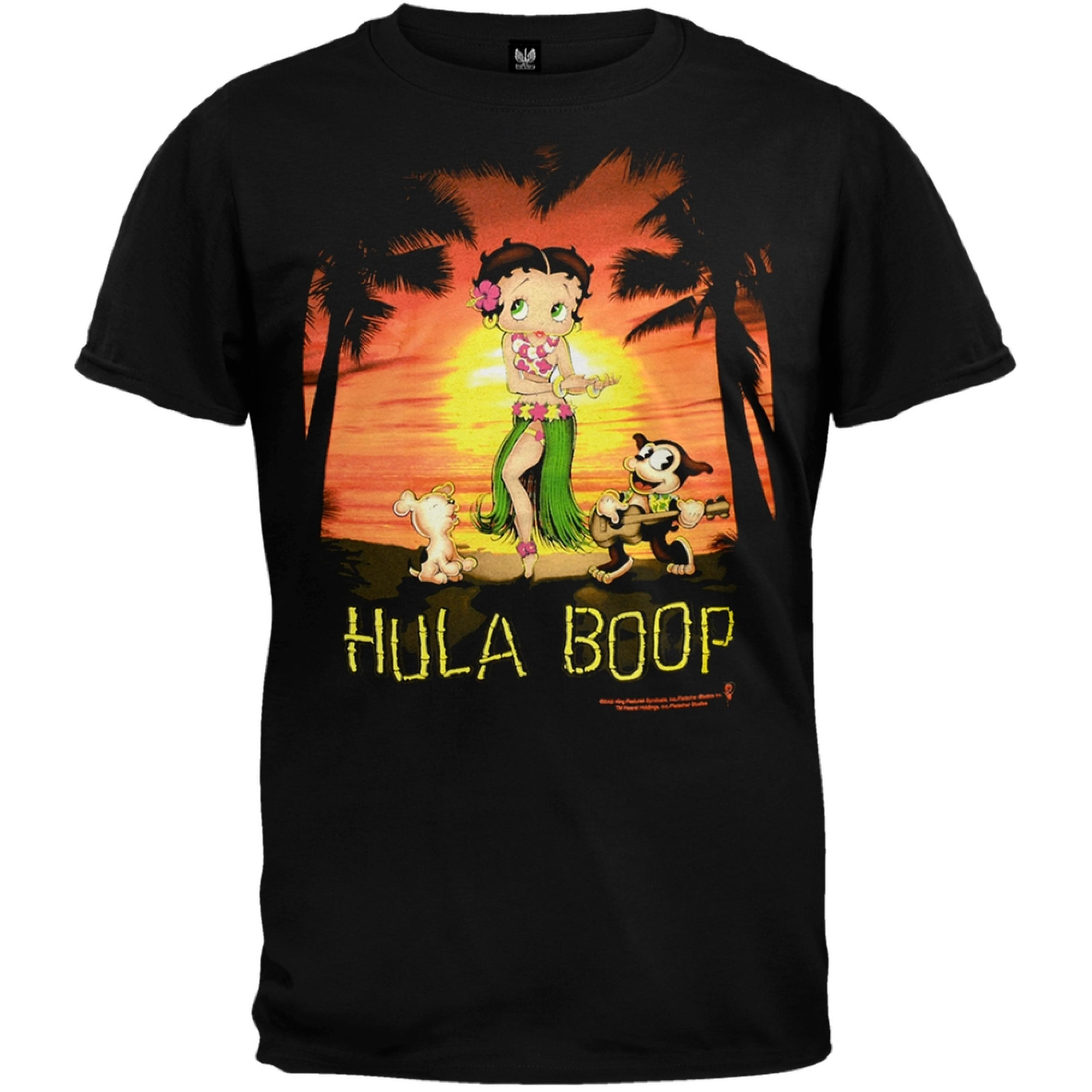 Betty Boop - Hula Boop Black T-Shirt