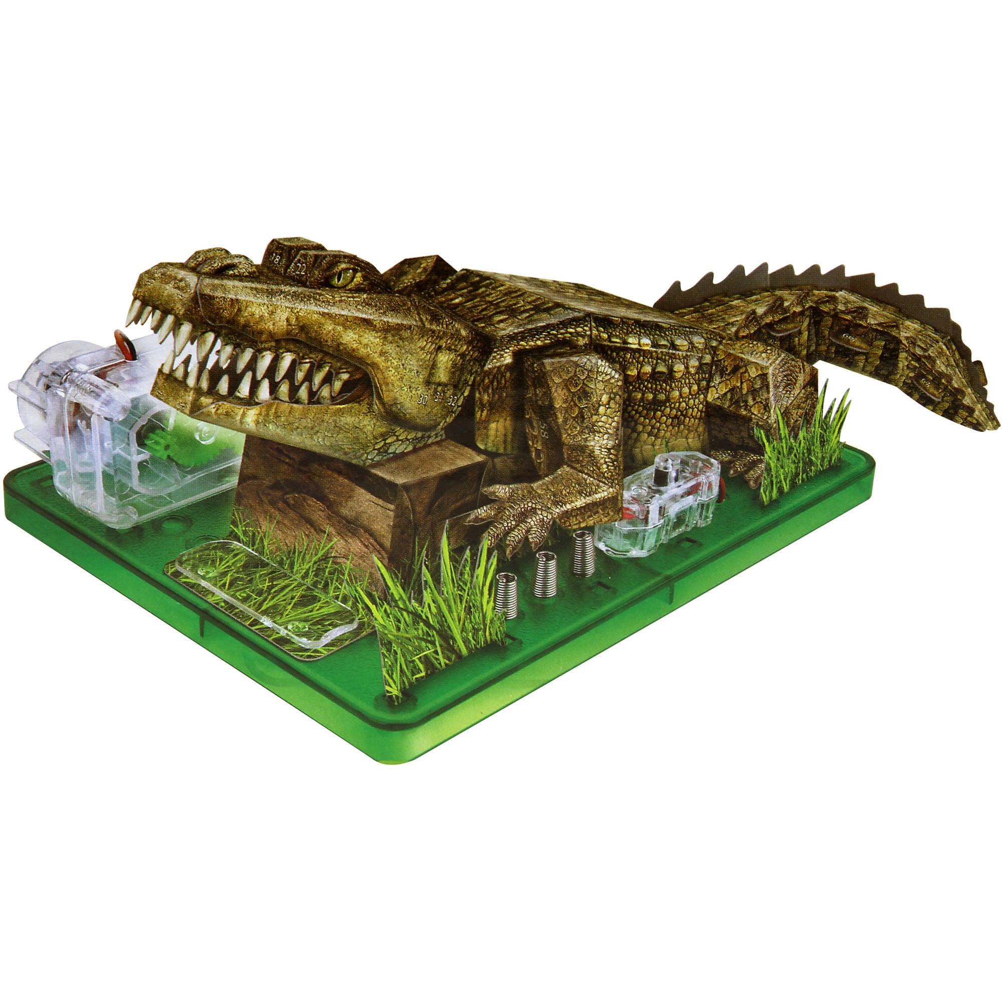 DGL Group Aww Industries Motorized Crocodile 3D Puzzle, Green