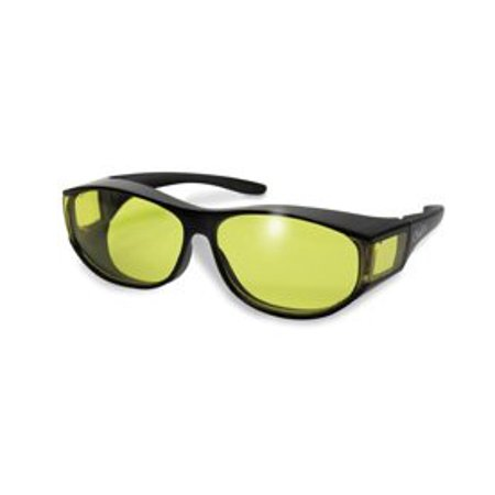 Global Vision Escort Fit Over Prescription Glasses Sunglasses Yellow Tinted Has Matching Side Lenses Meets ANSI Z87.1-2003 Standards for Safety (Perscription Motorcycle Glasses)