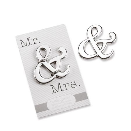 Kate Aspen Mr. & Mrs. Ampersand Bottle Opener