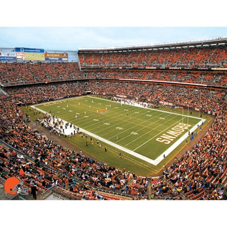 Image of Artissimo Designs NFL Browns Stadium Canvas, 22x28