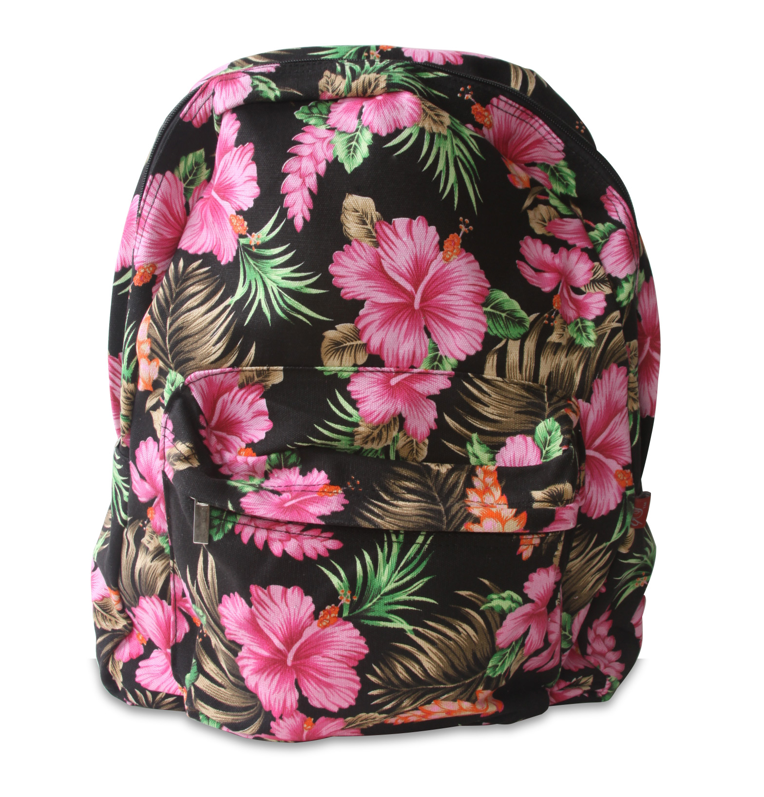 "Tropical Floral Hibiscus 17"" Backpack"