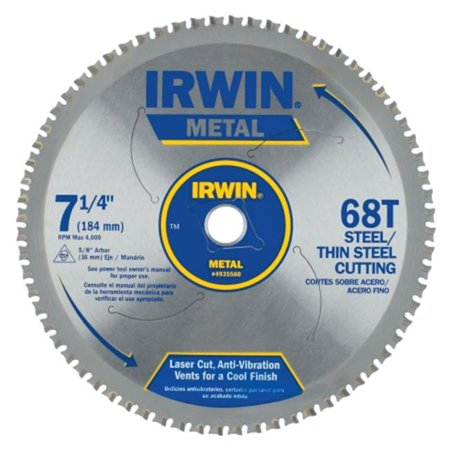 Irwin 4935560 7-1/4-Inch 68 Tpi Metal Cutting