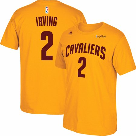 Kyrie Irving Cleveland Cavaliers Nba Adidas Mens Gold 2015 Finals Jersey T Shirt
