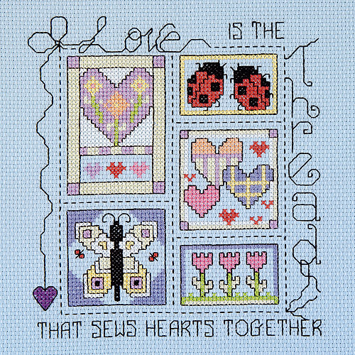 Janlynn Counted Cross Stitch Kit, Love is the Thread