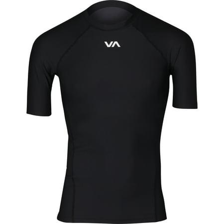 RVCA Mens VA Sport VA Compression SS Training Rashguard - Black