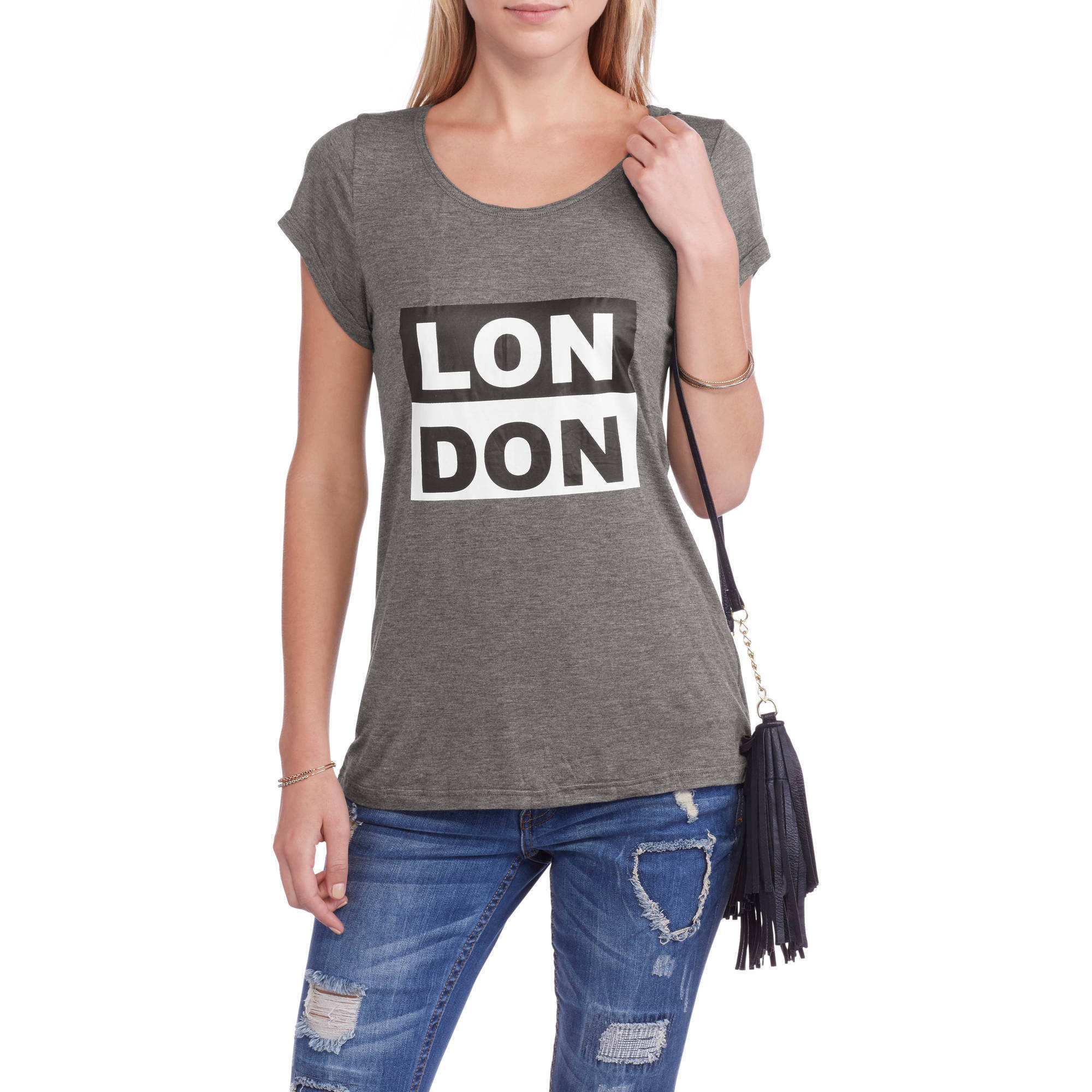 Women's' London' Relaxed Fit Crew Neck Graphic T-Shirt