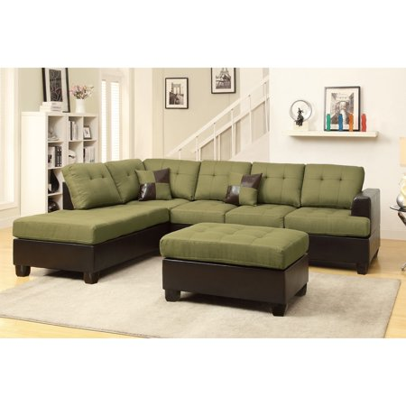 hamar sectional with matching ottoman pillows peridot. Black Bedroom Furniture Sets. Home Design Ideas