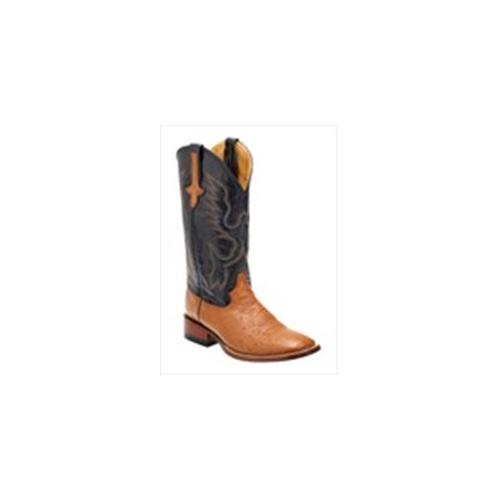 Ferrini 1029302115EE Mens Smooth Ostrich Square-Toe Cognac Boots 11. 5EE by