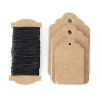 Natural Carboard Tags, 3 Size, 30-Piece