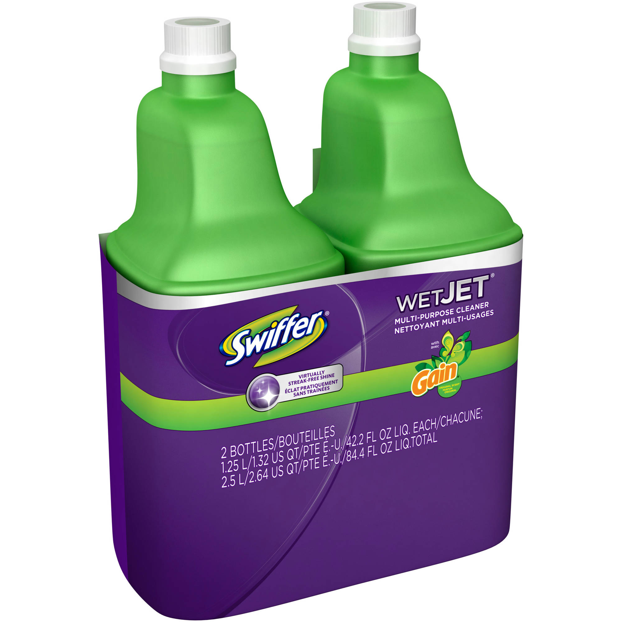 Swiffer WetJet Multi-Purpose Cleaner with Gain Scent, 42.2 fl oz, (Pack of 2)