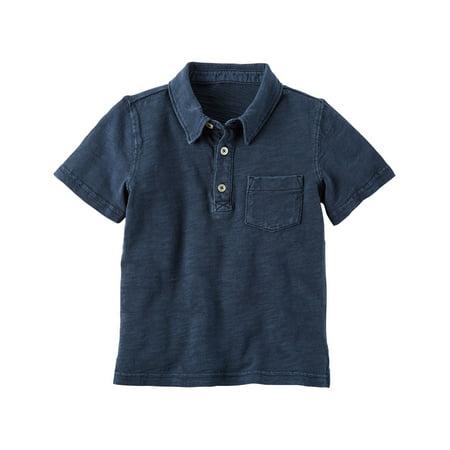 Carter's Baby Boys' Garment-Dyed Slub Jersey Polo, 12 Months