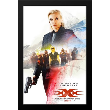 Xxx  Return Of Xander Cage 28X38 Large Black Wood Framed Movie Poster Art Print