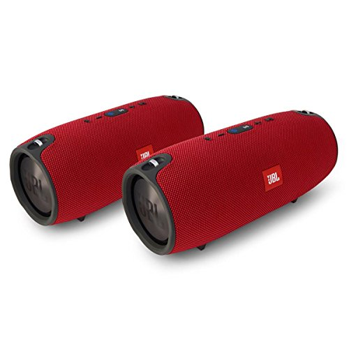 JBL Xtreme Portable Wireless Bluetooth Speakers Pair (Red) by JBL
