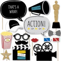 Movie - Hollywood Party Photo Booth Props Kit - 20 Count