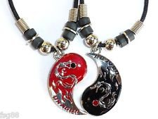 Anniversary Jewelry Best Friends Dragon Friendship Necklaces Yin and Yang