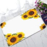 GCKG Sunflowers Non-Slip Doormat Indoor/Outdoor/Bathroom Doormat 30 x 18 Inches
