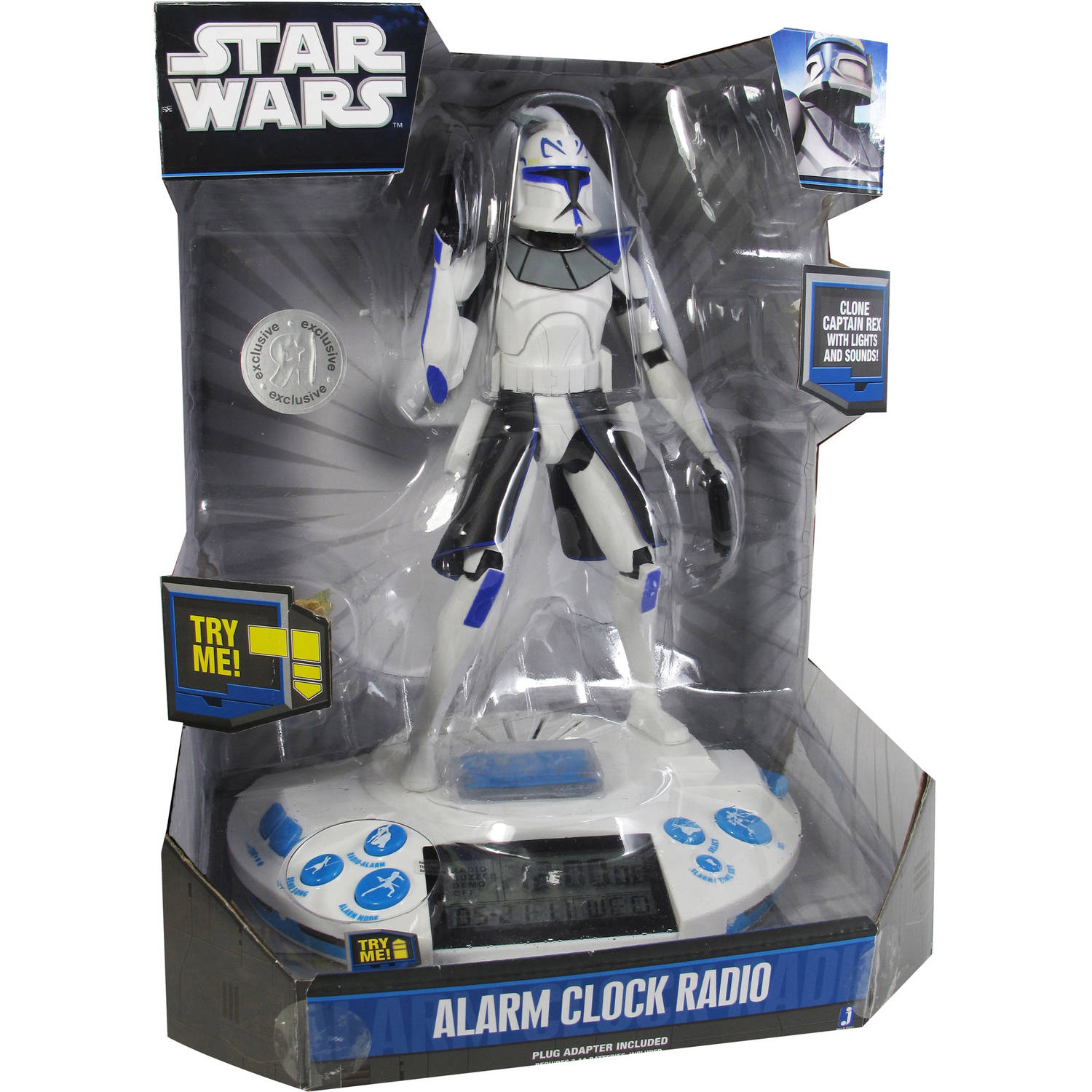 Star Wars Clone Wars Alarm Clock, Commander Rex