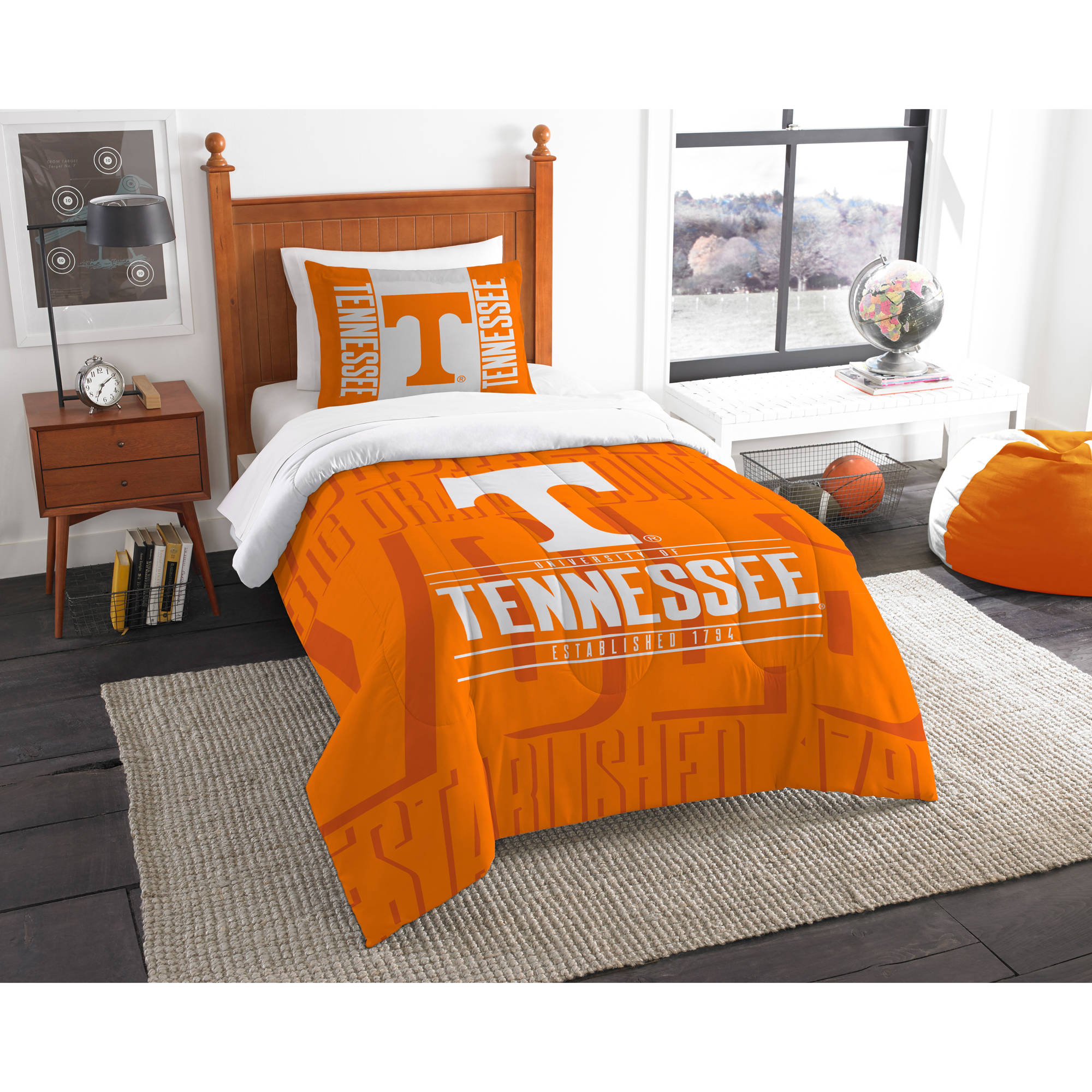 "NCAA Tennessee Volunteers ""Modern Take"" Bedding Comforter Set"