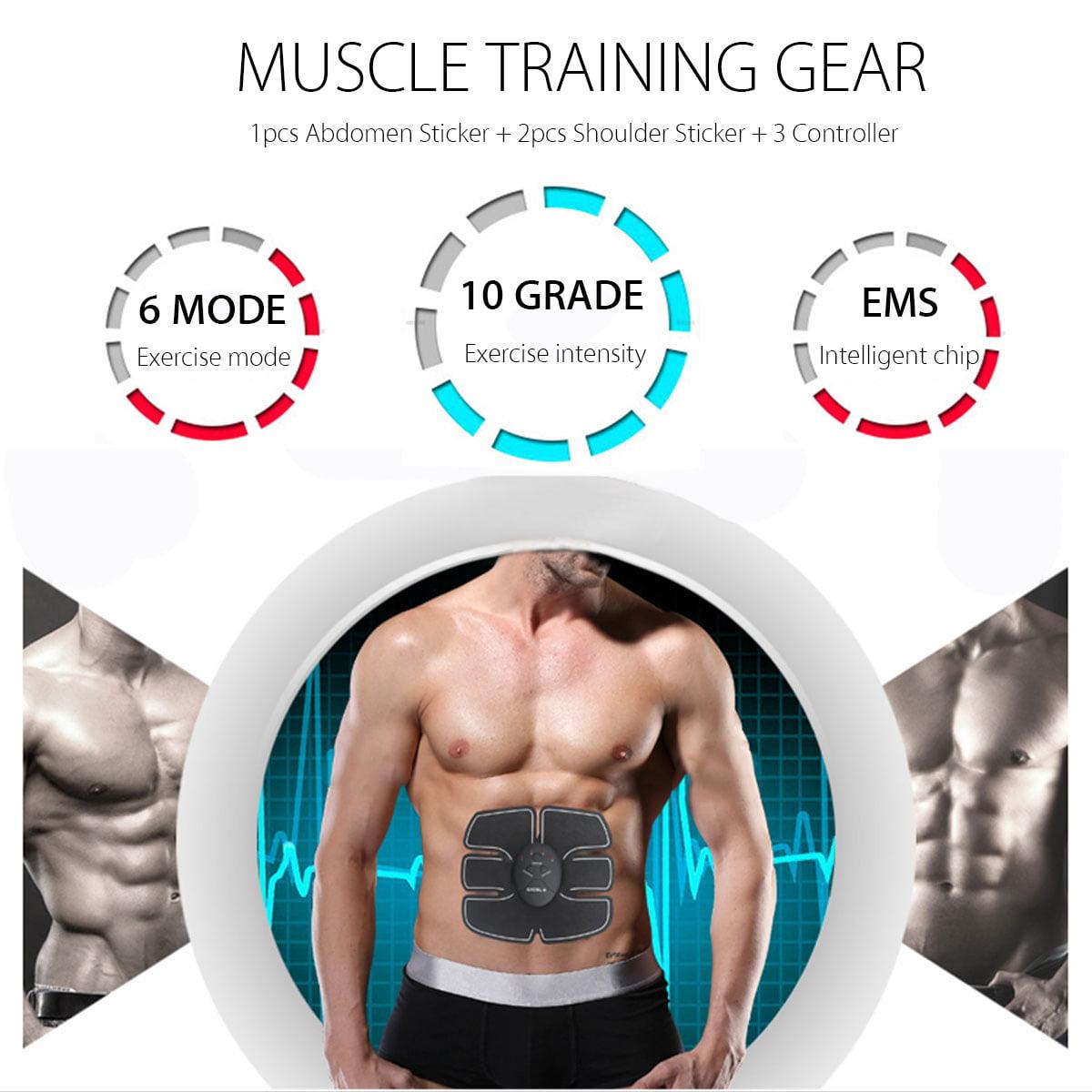 Pongaps Smart Muscle Trainer Body Stimulator Adesivo Pigro Fitness addominal Cronometri