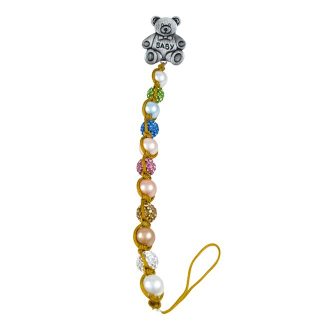Dlux Jewels Baby Pacifier Clip