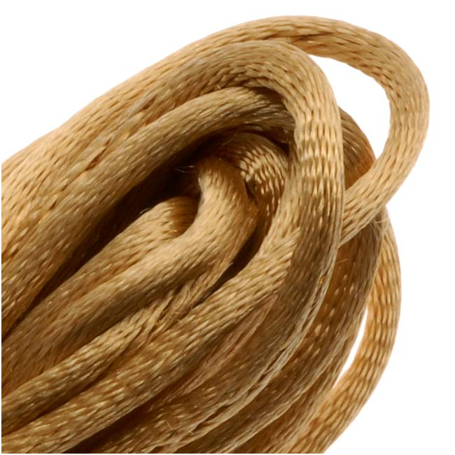 Rayon Satin Rattail 2mm Cord - Knot & Braid - Gold (6 Yards)