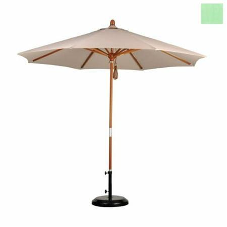 Californie Umbrella MARE908-SA13 9 pi. Wood Market Umbrella Poulie Ouvrir Marenti bois Pacifica-Spa - image 1 de 1