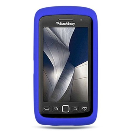 DreamWireless Rubber Silicone Soft Skin Gel Case Cover For BlackBerry Torch 9850/9860, Blue Blackberry Torch Silicone Skin