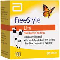Freestyle Lite Blood Glucose Test Strips 600 Count (6 Boxes of 100)